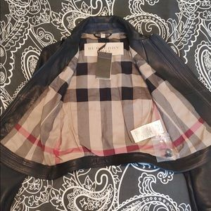 NWT Burberry Leather Jacket- Never worn